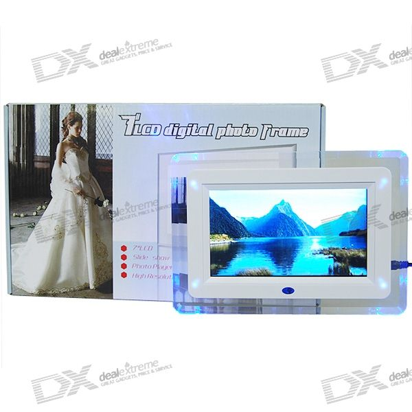 Digital Photo Frame with Video Player & Remote