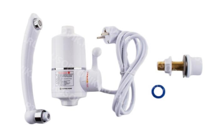 Electric Instant Hot Water Heater , Water Faucet Tankless Kitchen Instantaneous Water Heater Tap Heating Flow