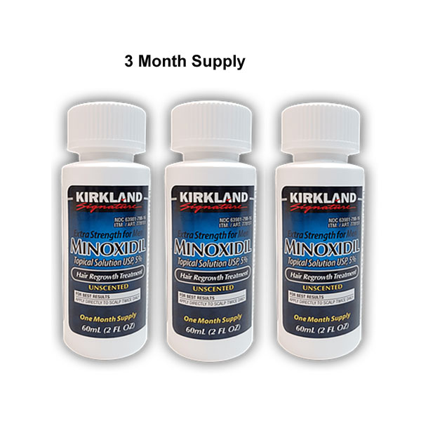 Minoxidil for Men 5% Minoxidil Beard & Hair Regrowth Treatment 3 month Supply