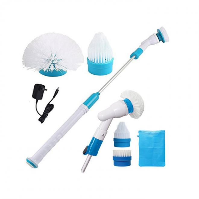 Spin Scrubber Multifunction Tub Tile Scrubber Cordless Rechargeable Power Cleaning Brush For Bathroom Floor Wall