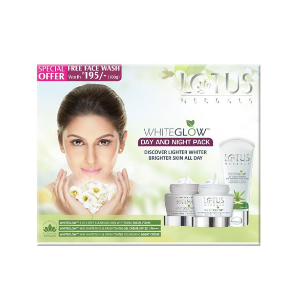 Lotus Herbals Whiteglow Day and Night Pack Kit