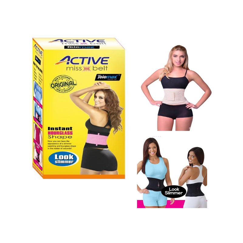 Active Miss Belt Instant Hourglass Shaper Black